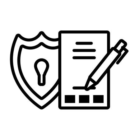 shield with seo icons in white background vector illustration design