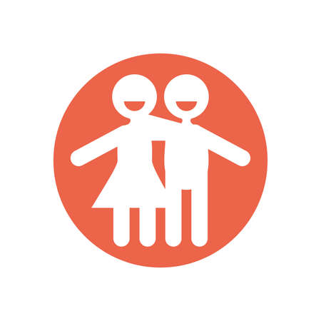 Avatar woman and man design of Zero discrimination day awareness help support campaign love life care and solidarity theme Vector illustration Illustration