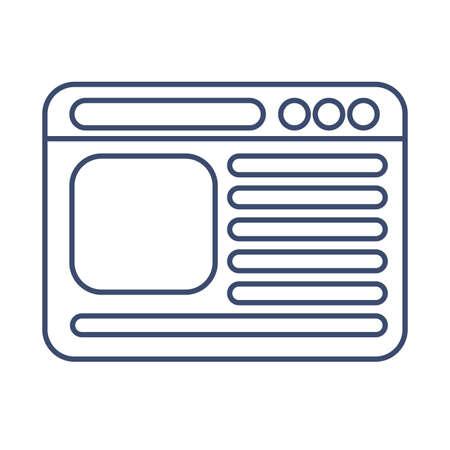 computer window , line style icon vector illustration design