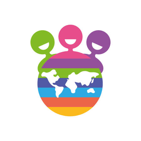 Avatars people and world of zero discrimination day, flat style icon vector illustration design