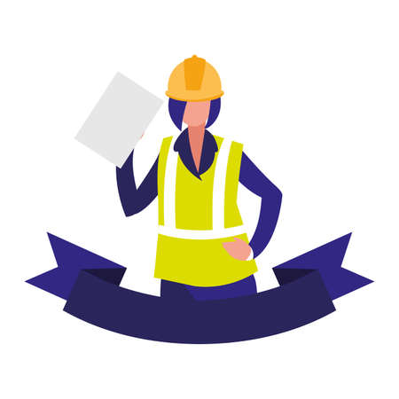 technician man in uniform with equipment on white background vector illustration design