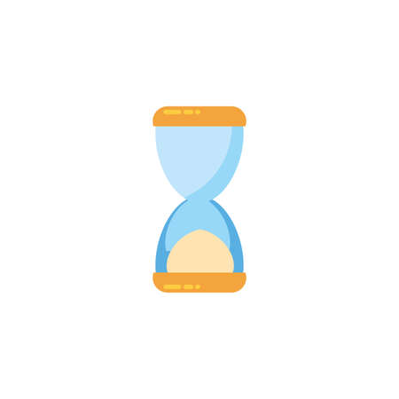 Sand hourglass design, Time timer clock glass countdown sand glass watch hour and deadline theme Vector illustration