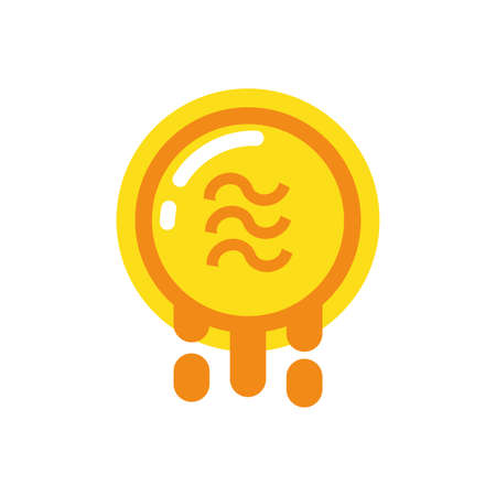 Steem coin design of Cryptocurrency money currency exchange financial bank web internet market electronic finance and net theme Vector illustration