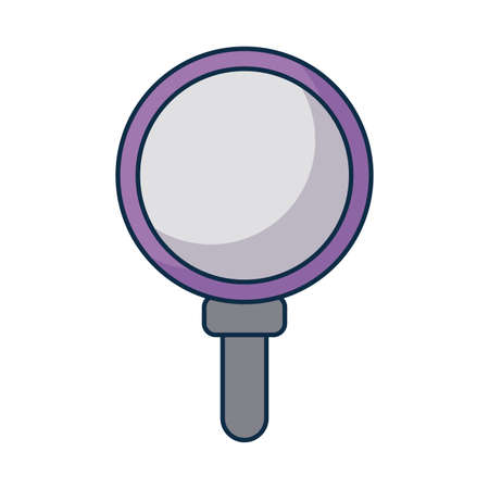 magnifying glass lens on white background vector illustration design Vektoros illusztráció
