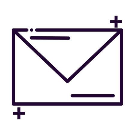 letter in envelope line style icon vector illustration design