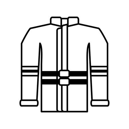 fireman jacket on white background illustration design