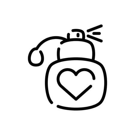 bottle over white background, line style icon, vector illustration Векторная Иллюстрация