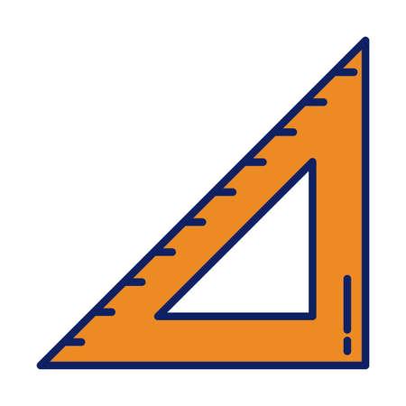 school rule, line and fill style icon vector illustration design Vector Illustratie