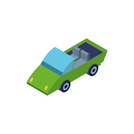 convertible car on white background vector illustration design