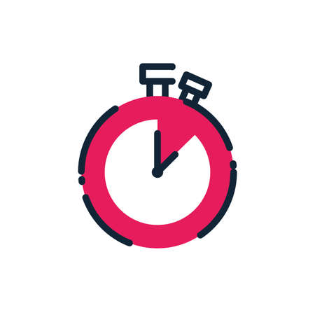 Chronometer instrument design, Time tool second sport stopwatch deadline measure and countdown theme Vector illustration