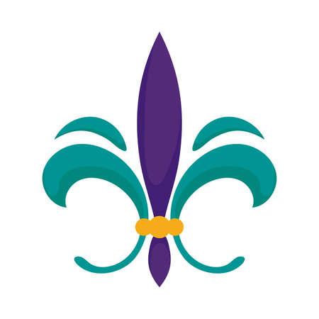 Mardi gras fleur de lis design, Party carnival decoration celebration festival holiday fun new orleans and traditional theme Vector illustration