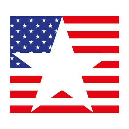 united states flag on white background vector illustration design