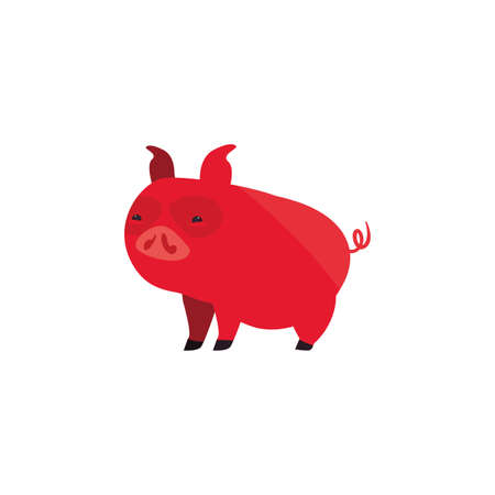Chinese pig design, China culture asia travel landmark famous asian and oriental theme Vector illustration Vetores