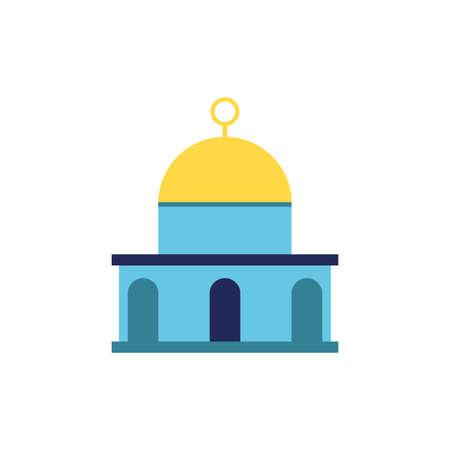 Jewish church design, Hanukkah holiday celebration judaism religion festival traditional and culture theme Vector illustration