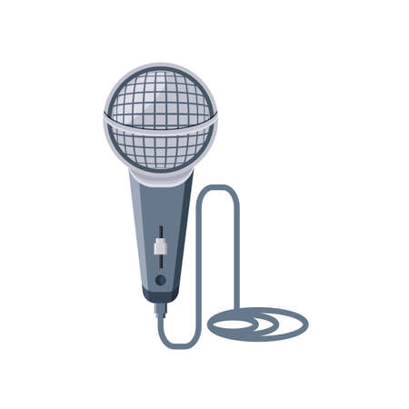 nice microphone on white background vector illustration design