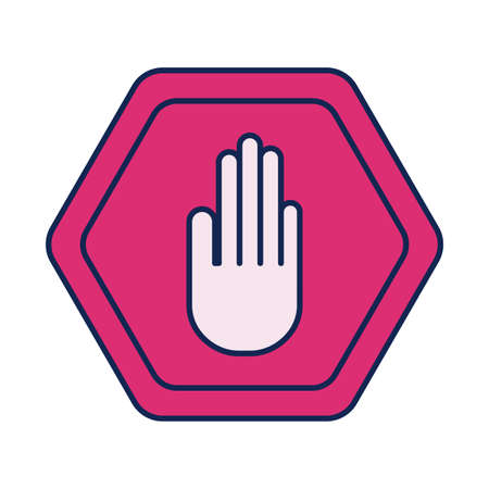 no handshake, line and fill style icon vector illustration design Vector Illustration