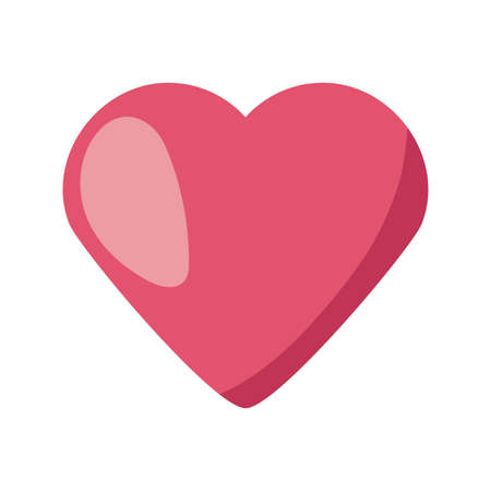 heart beating on white background vector illustration design