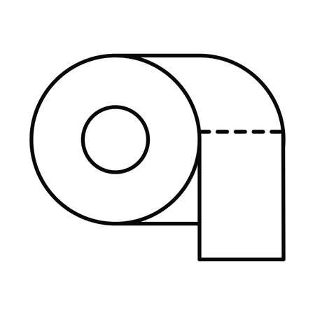 toilet paper, line style icon vector illustration design