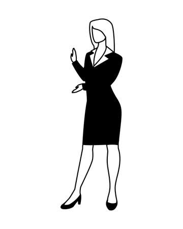 businesswoman standing on white background vector illustration design Vectores