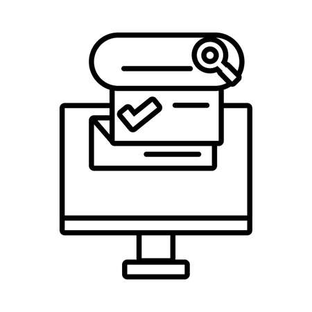 computer screen with digital technology in white background vector illustration design Vecteurs