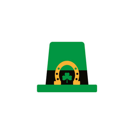 leprechaun hat , flat style icon vector illustration design