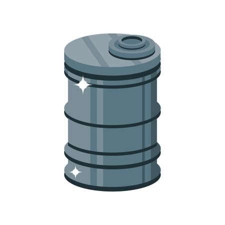 metal barrel on white background vector illustration design