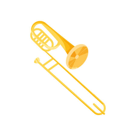 nice trumpet on white background vector illustration design Vectores