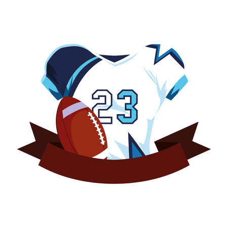 american football shirt with ribbon on white background vector illustration design Stock fotó - 144970841