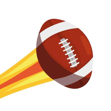 flying rugby ball sport vector illustration design