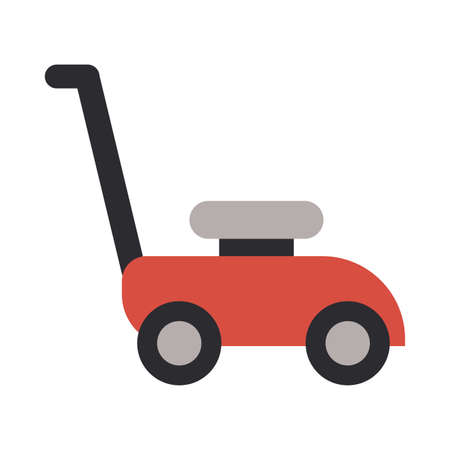 lawn mower on white background vector illustration design