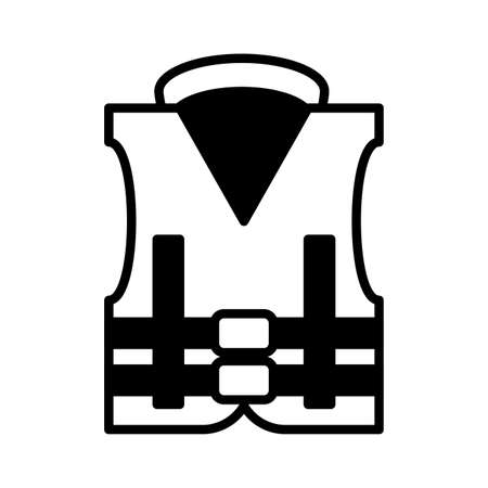 rescue vest on white background vector illustration design