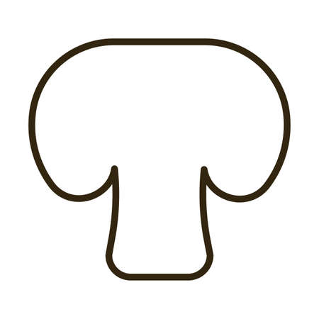 champignon on white background, line style icon vector illustration design