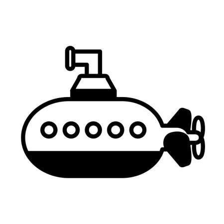 toy submarine on white background, baby toys vector illustration design Ilustrace