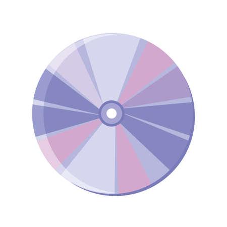 optical discs on white background vector illustration design