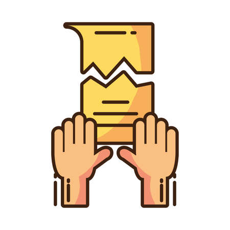 clenched fist held in protest on white background vector illustration design Çizim
