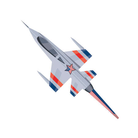 air force plane on white background vector illustration design