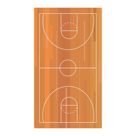 basketball sport wooden court floor vector illustration