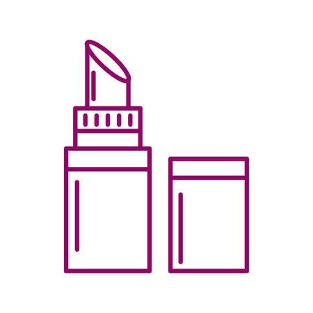 lipstick open, line style icon vector illustration design Stock Illustratie
