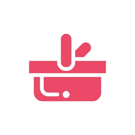 shopping basket on white background vector illustration design Illustration