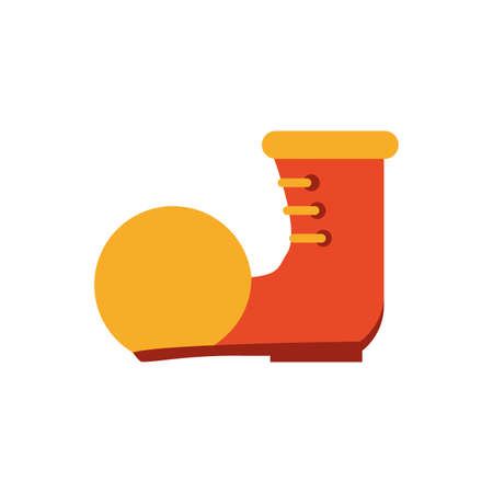 clown boot over white background, flat style icon, vector illustration
