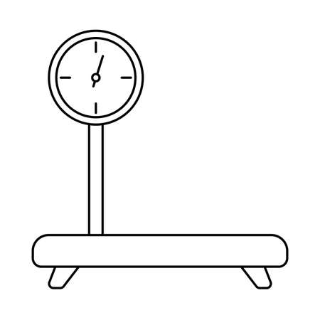 industrial cargo weight scale , line style icon vector illustration design