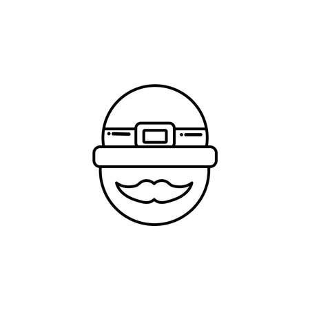 leprechaun face with hat, flat style icon vector illustration design Zdjęcie Seryjne