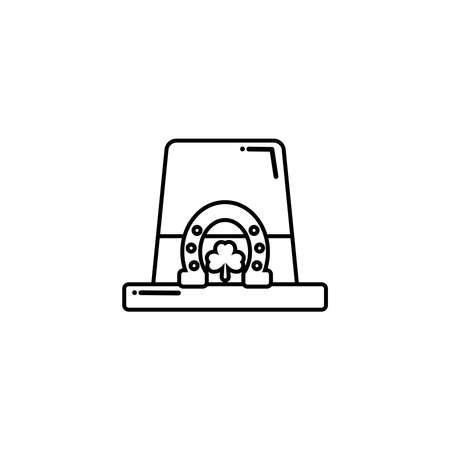 leprechaun hat , flat style icon vector illustration design