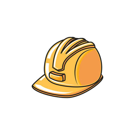 helmet secure protection isolated icon vector illustration design