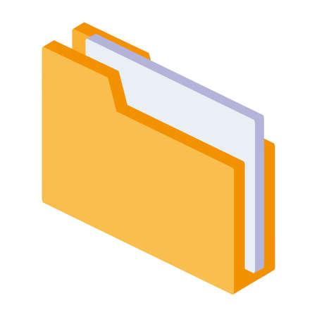 folder documents isolated icon vector illustration design 版權商用圖片