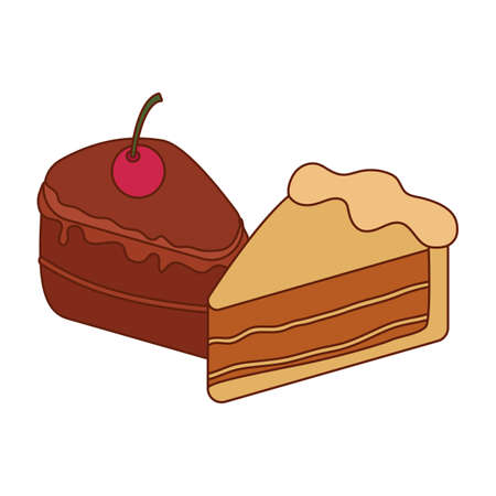 Sweet cakes design, dessert food delicious sugar snack and tasty theme Vector illustration
