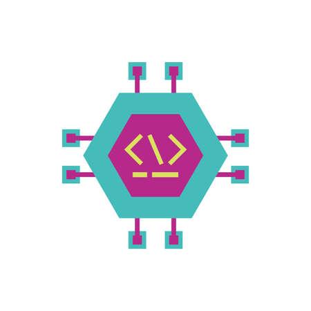 Website code circuit design, Programming web designer technology internet media modern and development theme Vector illustration