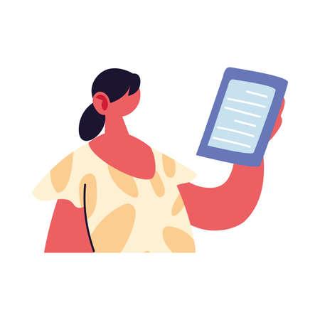 professional woman working online at home vector illustration design Иллюстрация