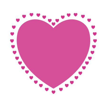 Pink heart design of love passion romantic valentines day wedding decoration and marriage theme Vector illustration