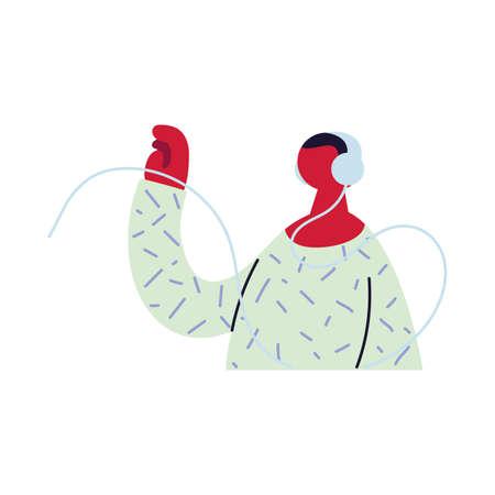 professional man working online at home vector illustration design